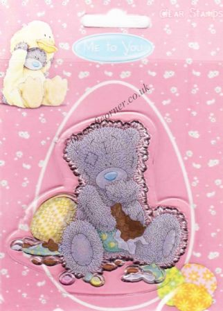 Me To You Easter Teddy Bear Eating Chocolate Clear Rubber Stamp